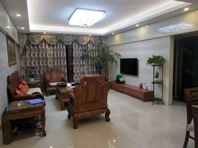 丽水鑫城电梯高层产权面积126平米,3房2厅2卫家具家电全送
