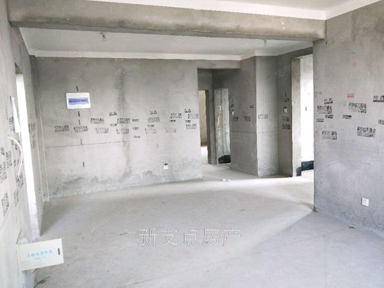水岸花城3室毛坯114平75万楼层好可贷款