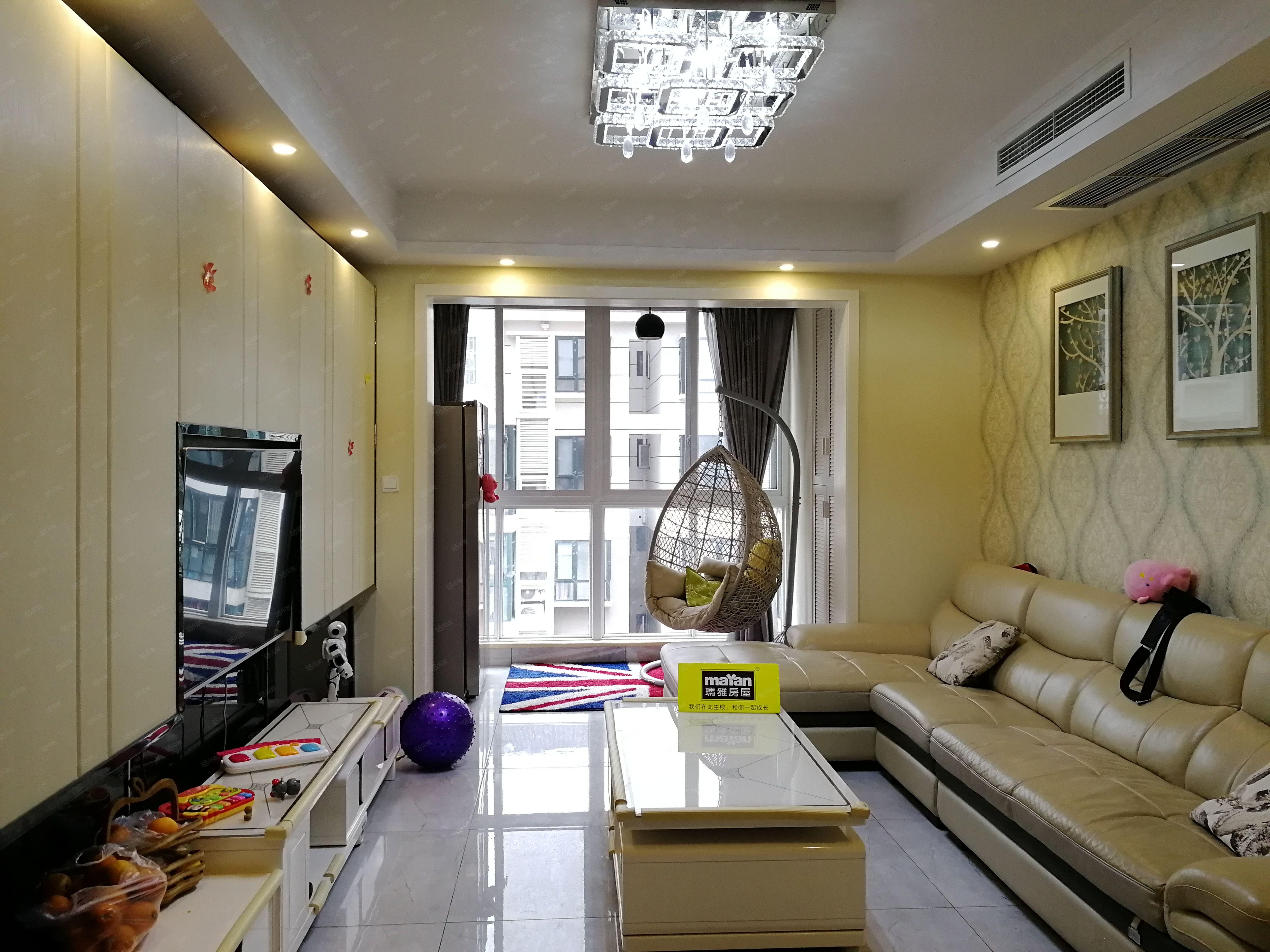 金陽美景單價5400精裝頂躍帶中央空調和家具家電滿二