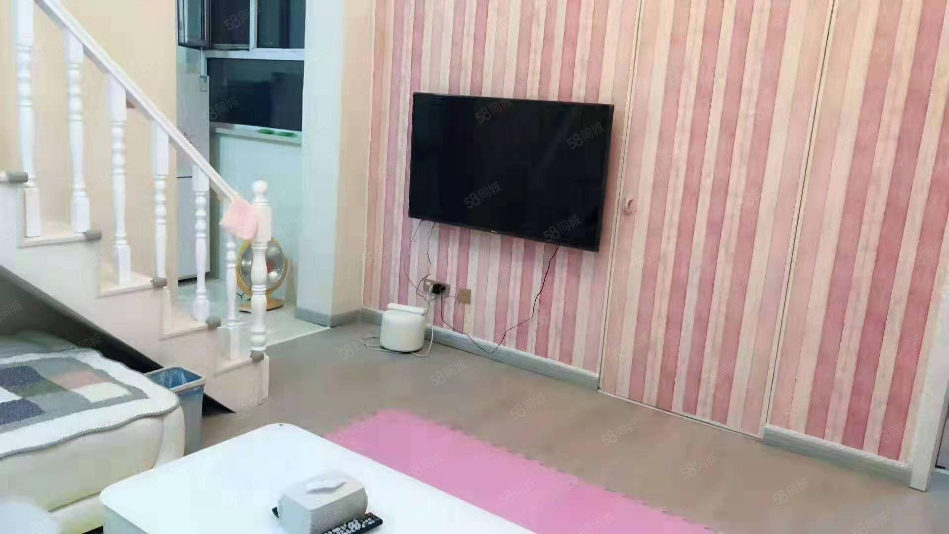 出租开莱国际精装房俩居室家具齐全拎包入住