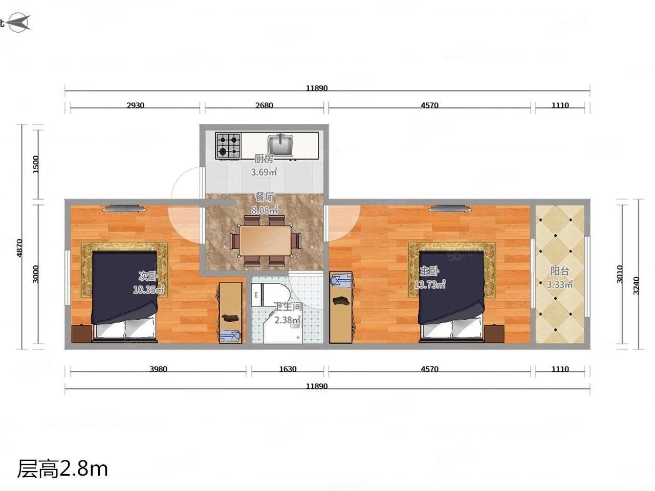 滨江新家园一室两室三室出租精装修拎包