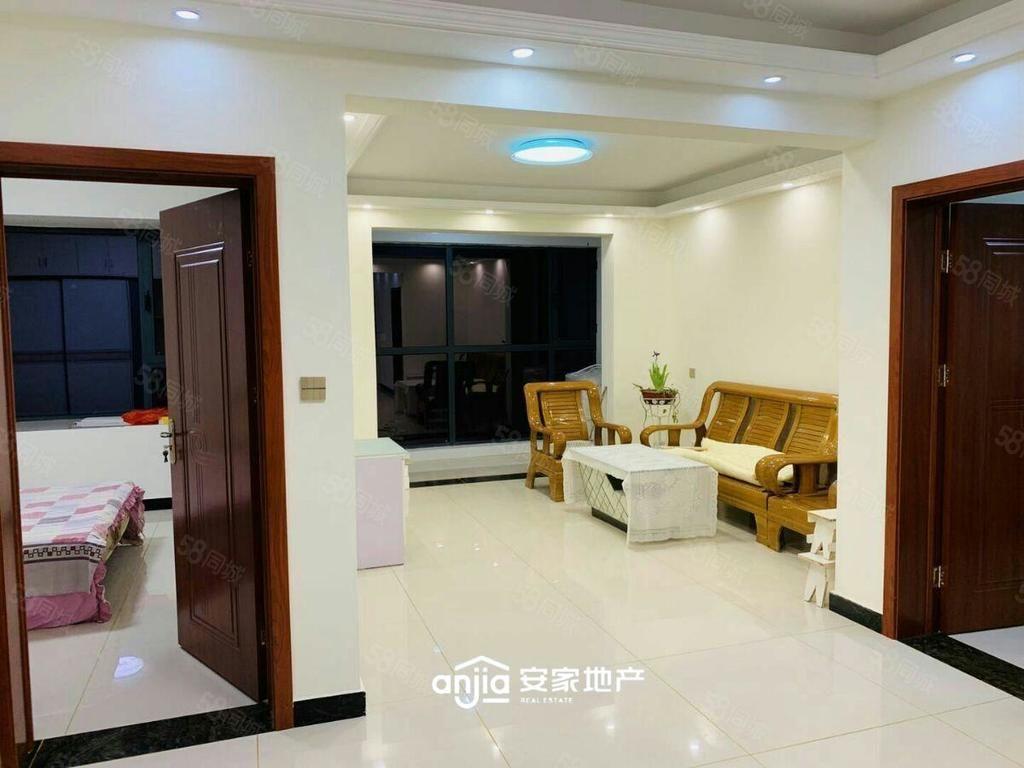 万达附近国安悦府精装修两室家具家电齐全看房方便拎包入住采光好
