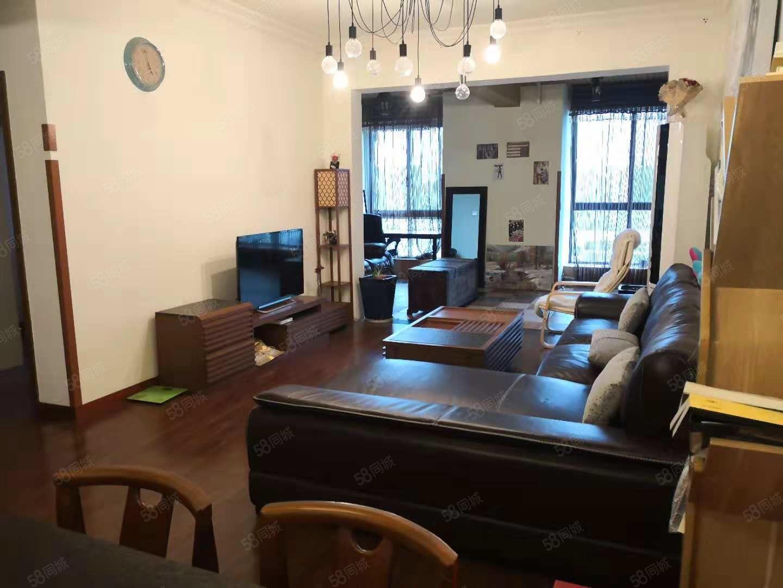 红光水岸康城,满两年豪装大套二双卫,精致装修实木家具真皮沙发