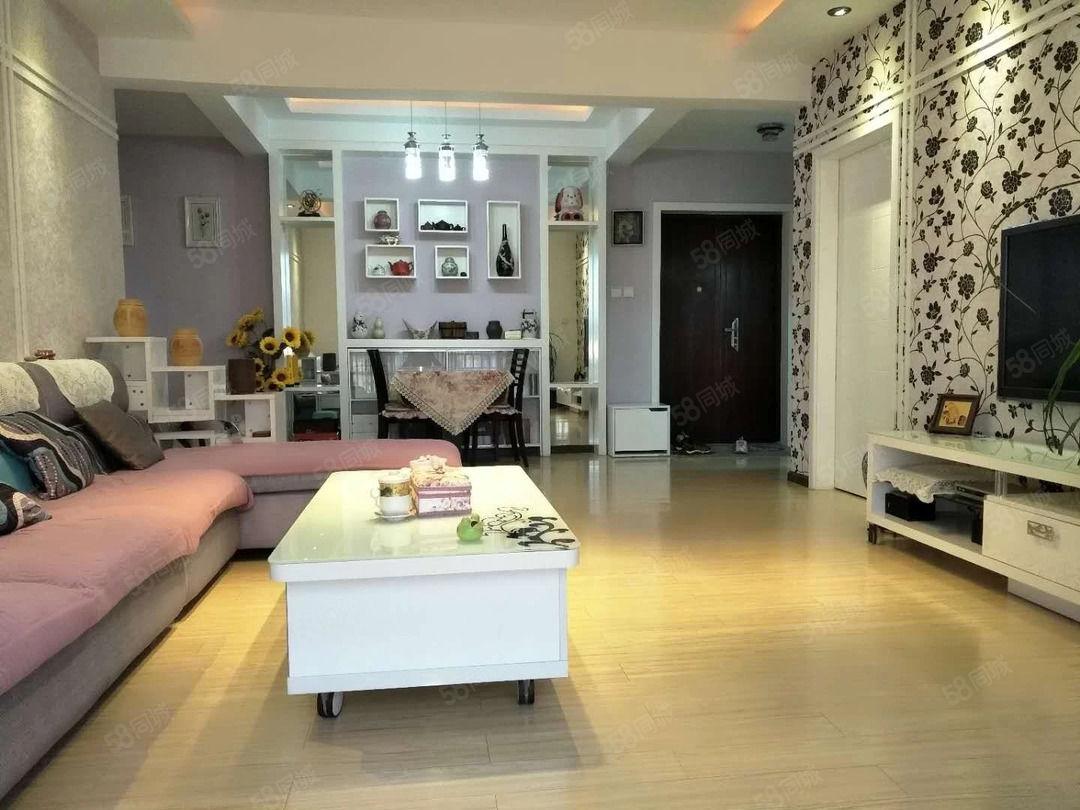 市中心盛世庭园,两室精装修,南北通透,带家具家电拎包入住!