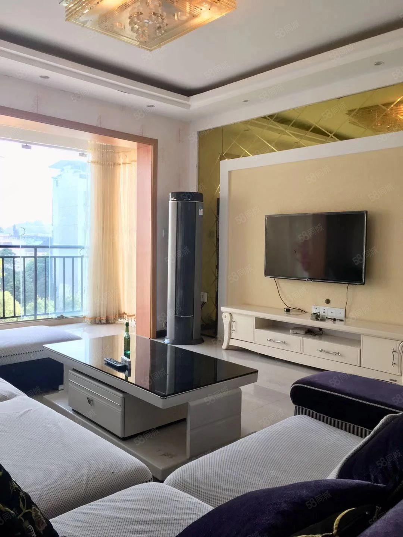 阳光城采光好楼层4楼精装108平3室2厅2卫家具家电齐