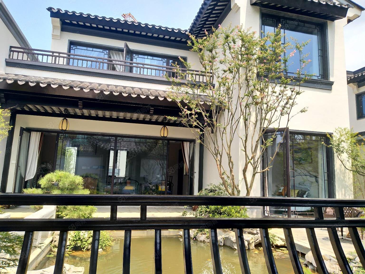 中国风高端别墅九江唯一苏式园林别墅家家温泉入户绿城物业打造的