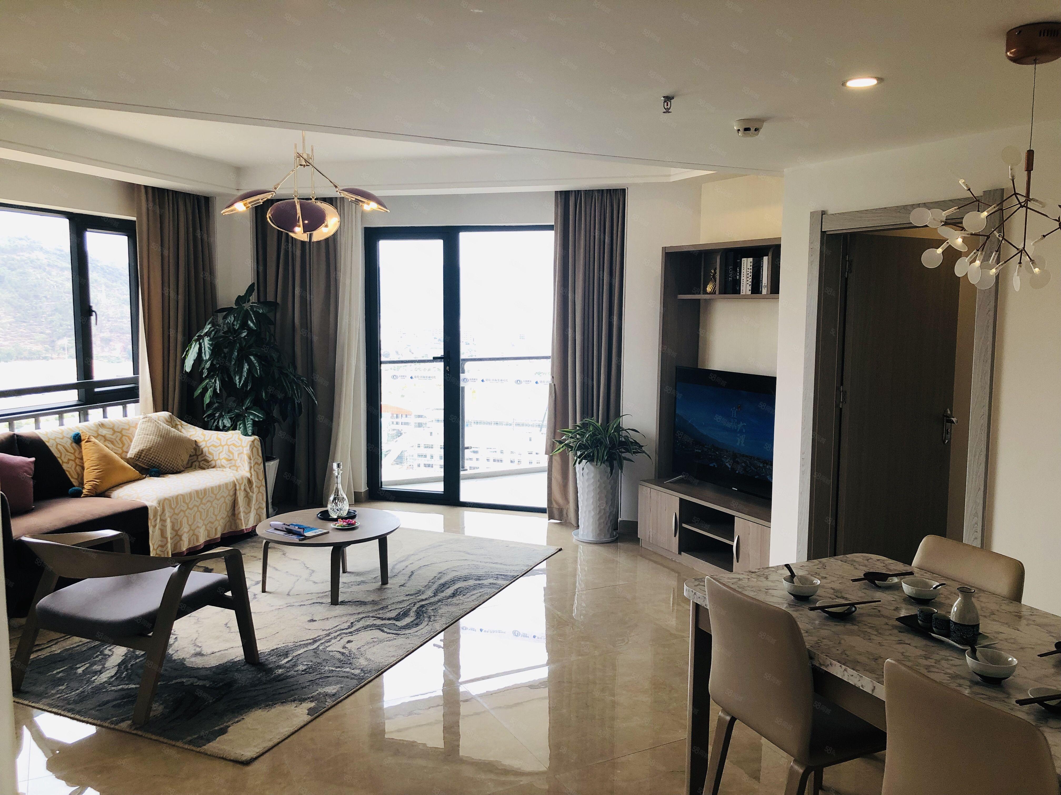 洱海寰球时代两室两厅两卫精装海景洋房拎包即可入住