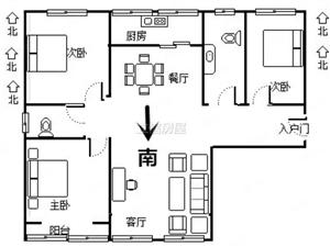 天朗大兴郡悦城南北通透三室急售124平送10平低于市场价
