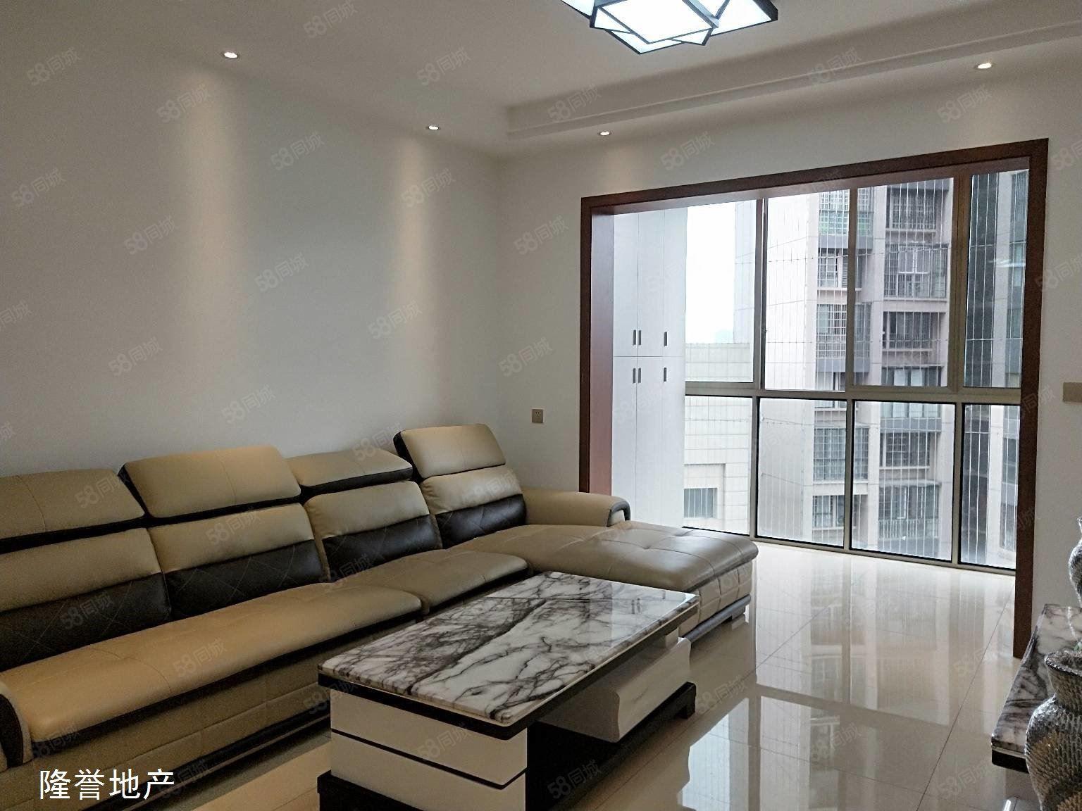 西區電梯9樓經典三室全套家具家電拎包入住