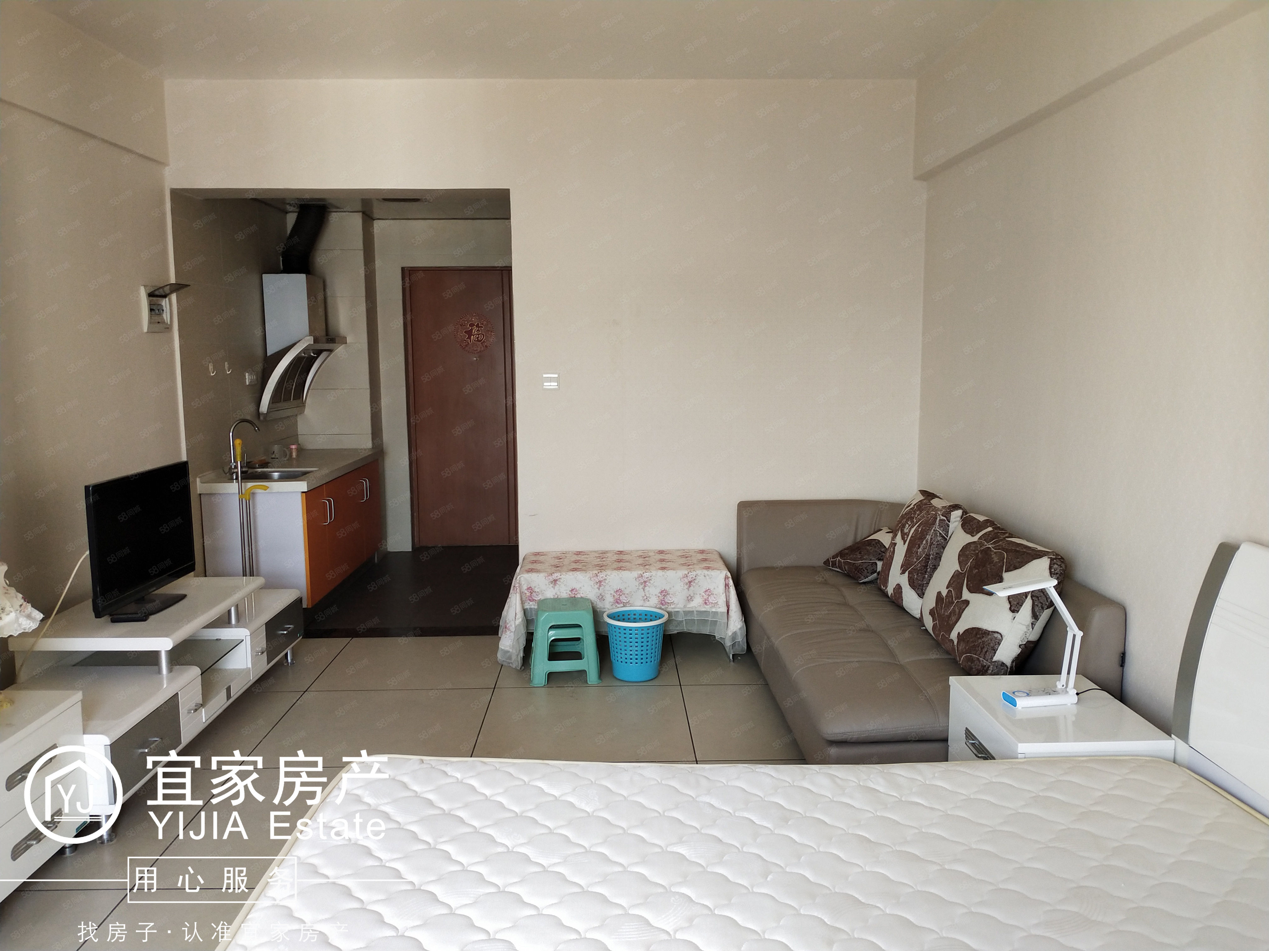 时代广场,1室1厅1厨1卫,精装修,单身公寓,带全套家具澳门金沙平台