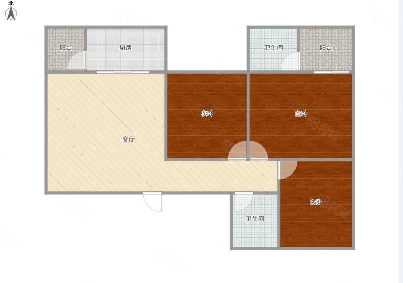 彩云街三房出租,家具配齐拎包入住,租金833一月,有钥匙