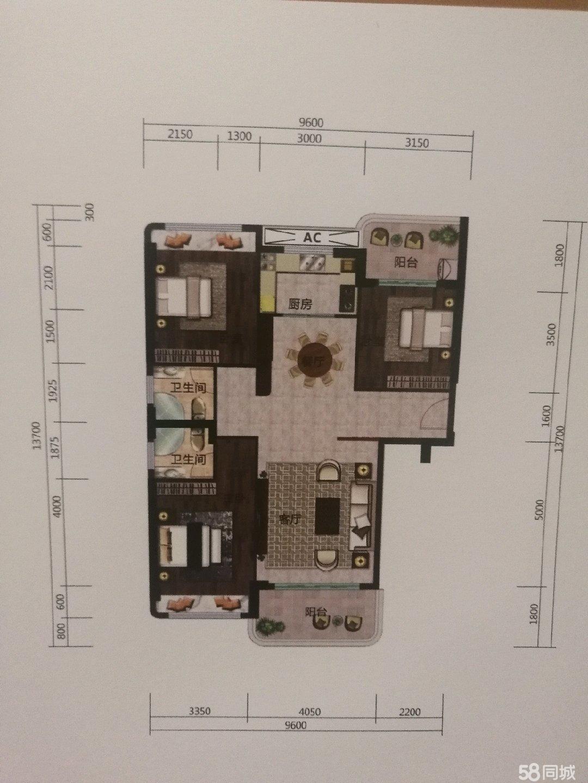 棉湖新城一期四楼四房二厅出售