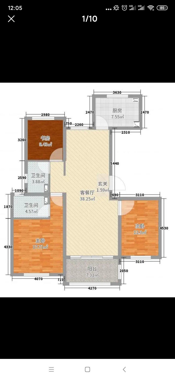 新百�R(二期)3室2�d2�l