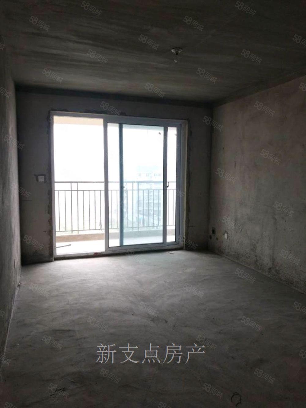 洪盛国际7楼111平三室毛坯68万证齐可贷款
