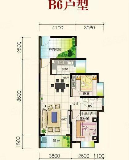 老城生态软件园四季康城两房可改三房户型方正随时看房