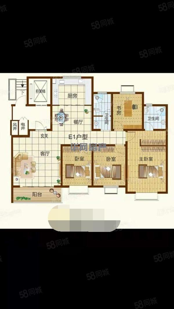 卫河路北段茂源景城精装修三室两厅两卫新房适合做办公室