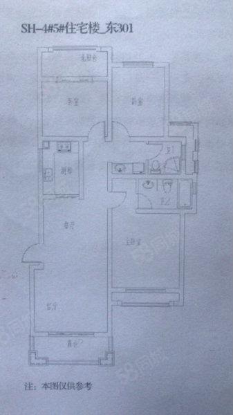 南湖雅苑毛坯房,三楼住房102平方,54万低价出售