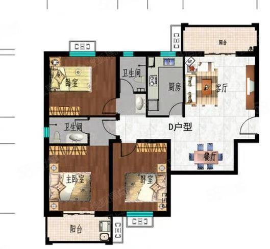实验小学附近,滏兴国际园128平简装三室,带小房,122万