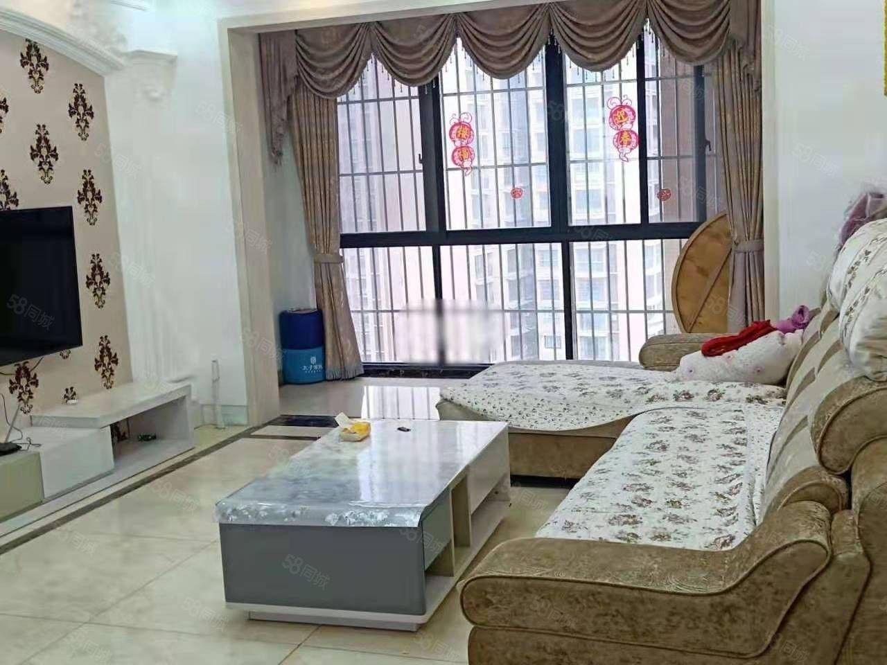 滨江路国滨首府高档花园小区全新精装3室拎包入住环境好