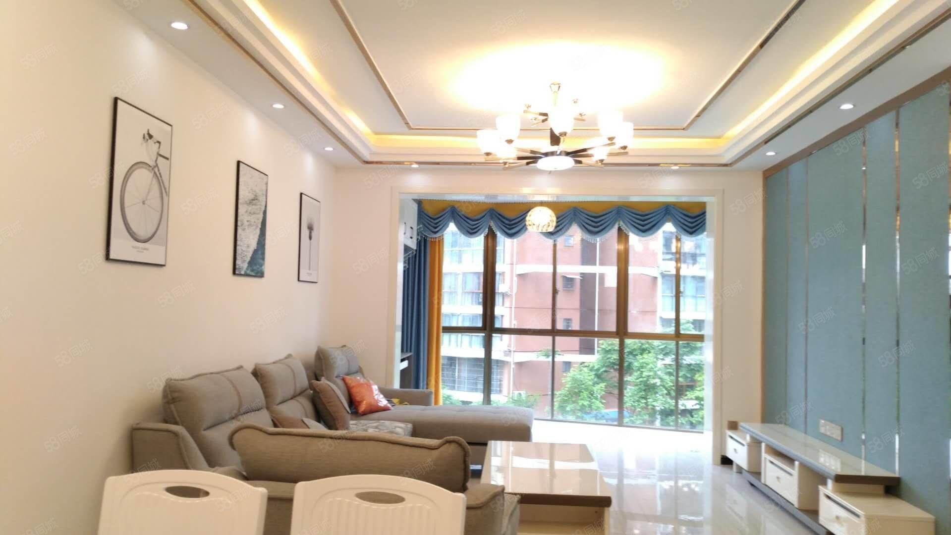 急售锦绣国际城3室2厅2卫豪装修109平方家具齐