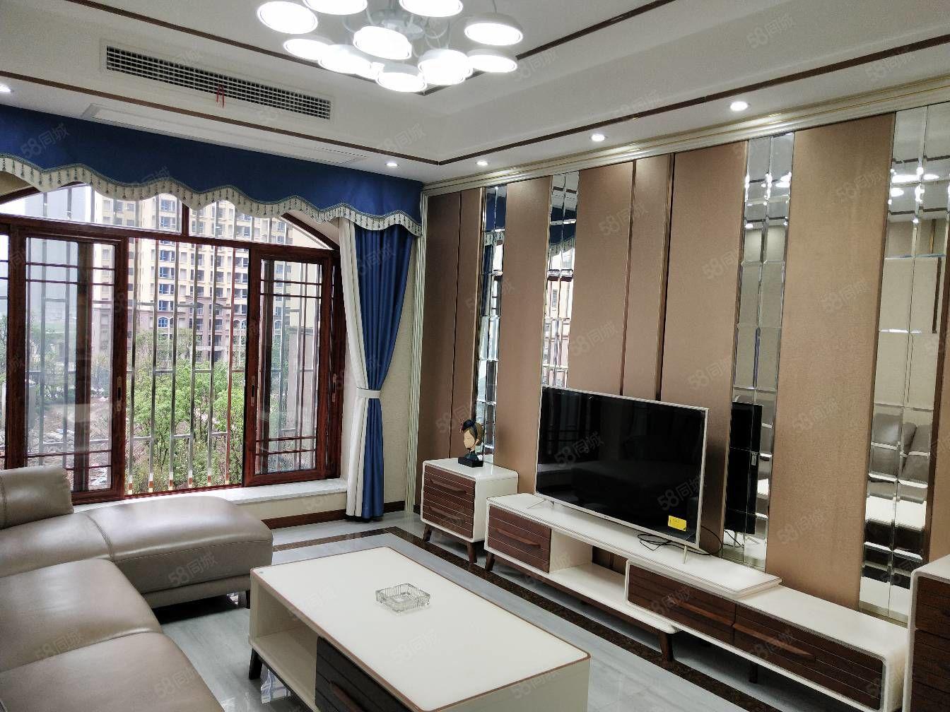 金色巴黎豪装三房带中央空调和全部家具非诚勿扰