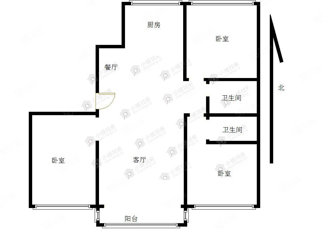 錦繡公寓(含過戶費)南北通透三室毛坯可按揭大產權