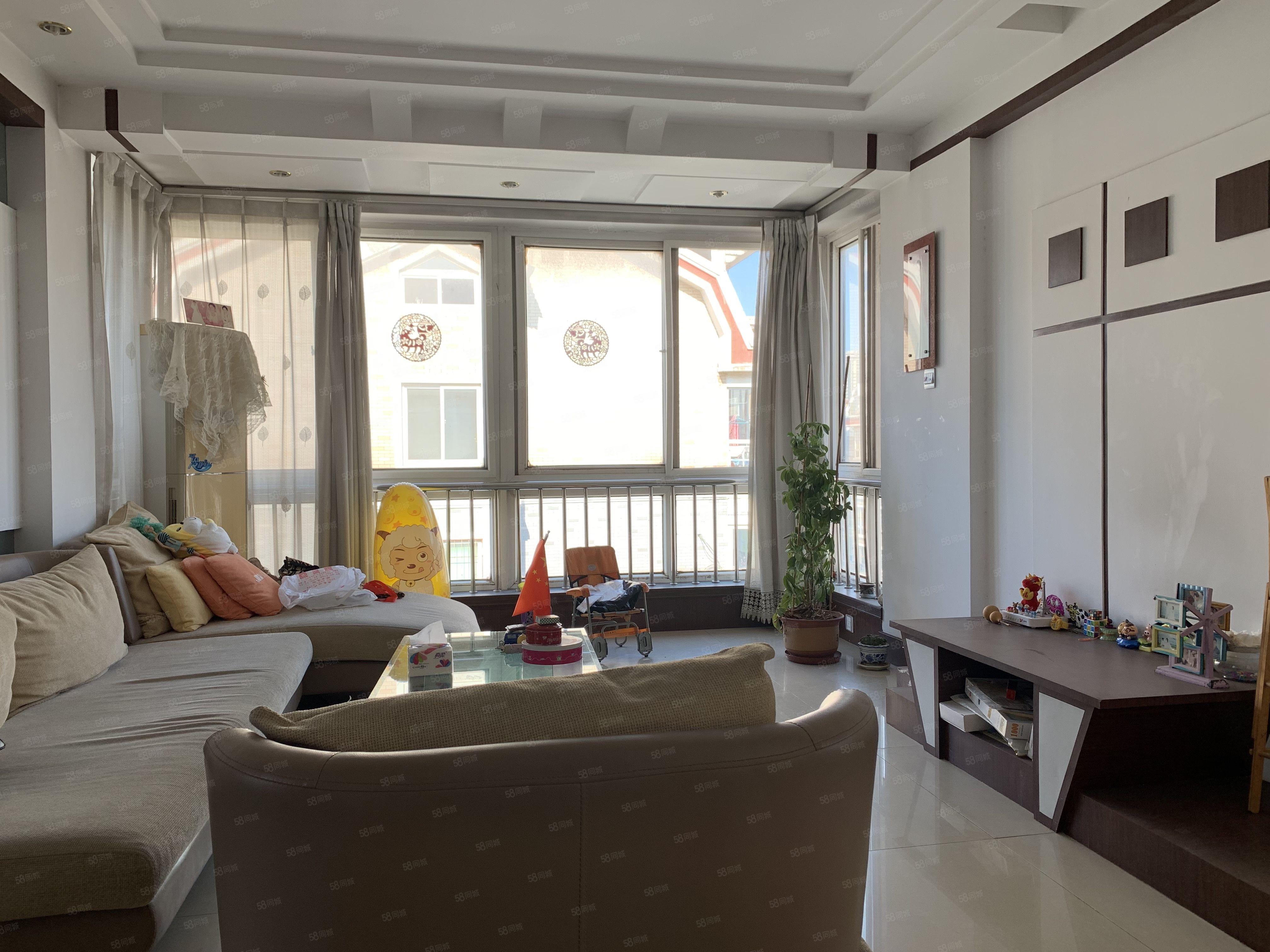 富豪花园落地窗好楼层精装3室满五年无贷款看房随时方