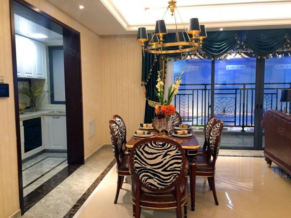 一线湖景房,3500一平,超大双阳台,滨江华府,地铁口,公园