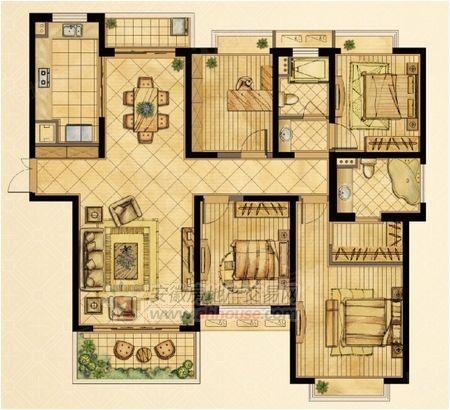 文景新城4室2廳2衛精裝修家具家電齊全送9.6平方儲可分期
