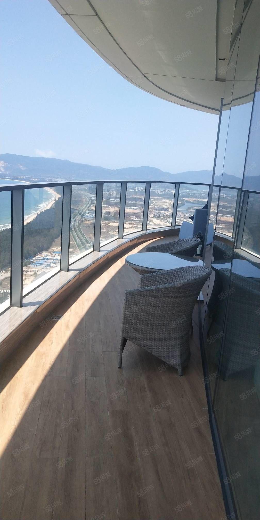 海棠湾(保利财富中心)一线海景房小两房拎包入住价格低价。