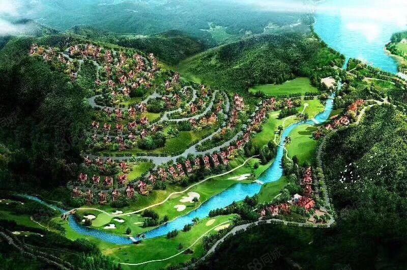 中国芒市华丰孔雀湖养生度假养生智慧别墅人间天堂的地方