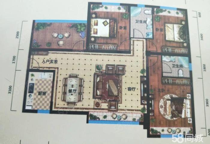 博源帝景三室两厅有多套毛坯房现诚心出售