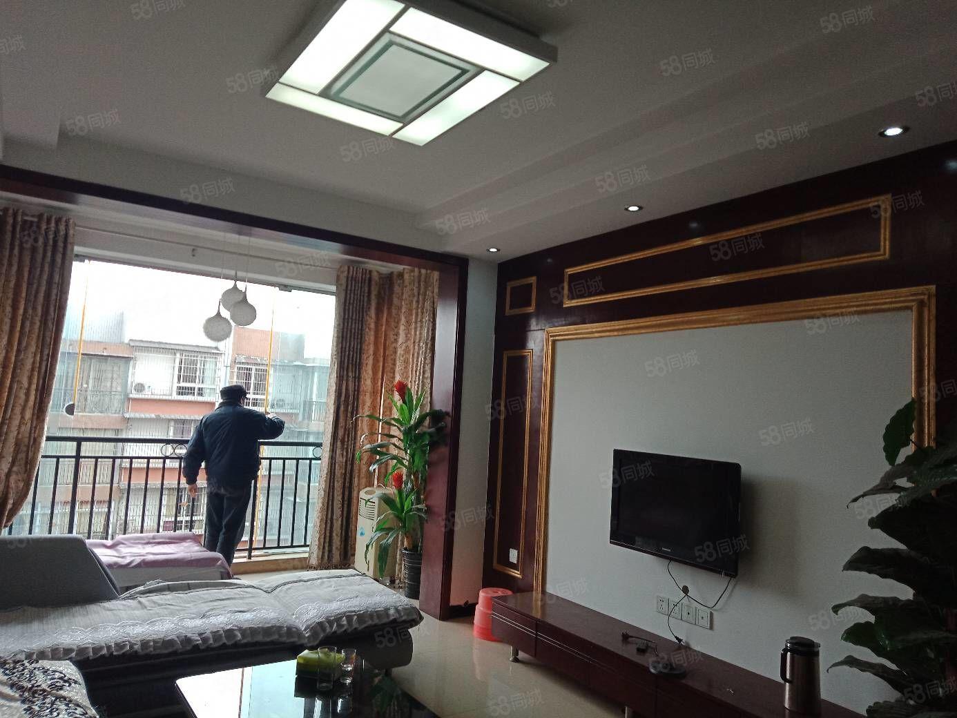 翡翠苑精装2室2厅1卫,冰箱,洗衣机,电视空调8500元一年