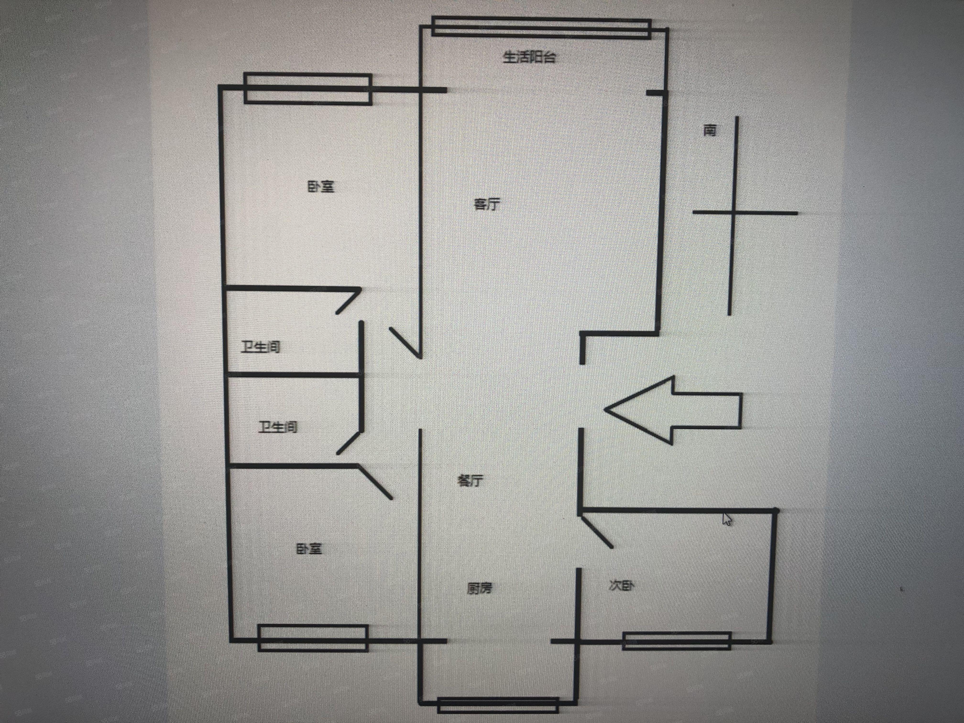 悅鑫花苑3室2廳2衛毛肧房中層可按揭貸款急售鑰匙房