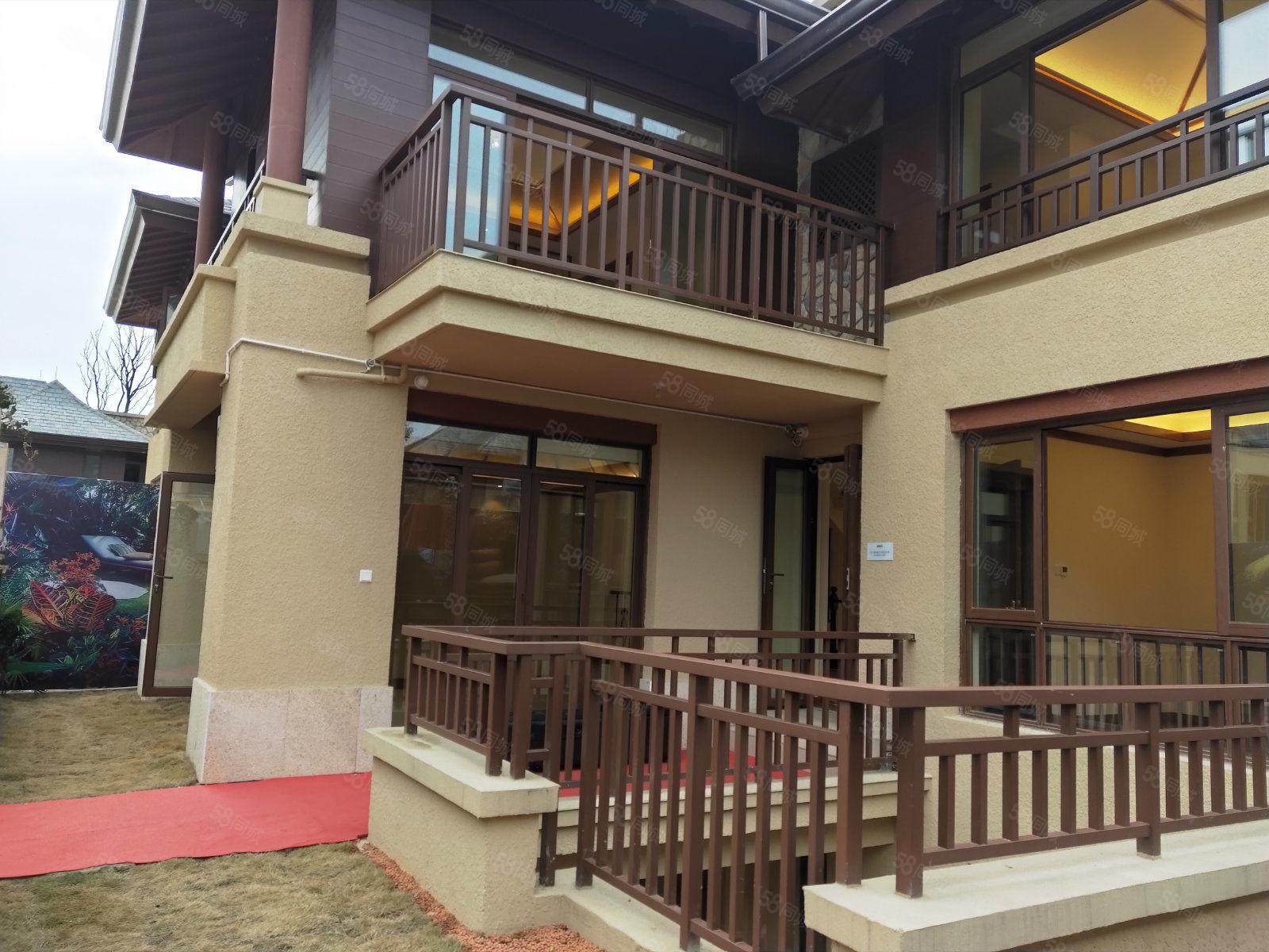青城山龙湖别墅,独院开发商精装修空房带独立院子,带地暖!