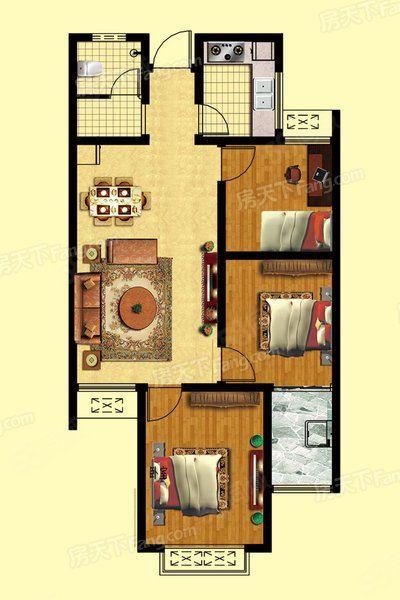 曼哈顿3室简装东门十五中新证可贷款随时看房