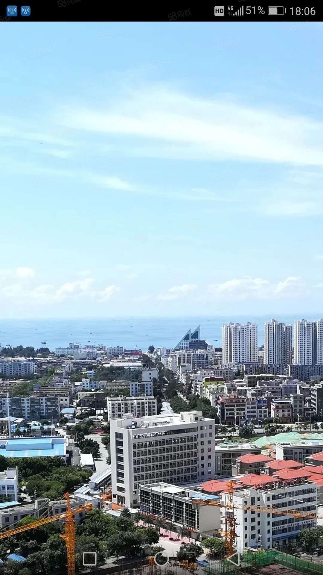 侨港附近穗丰金湾高层两房1500月,可日租,短租,价钱面议