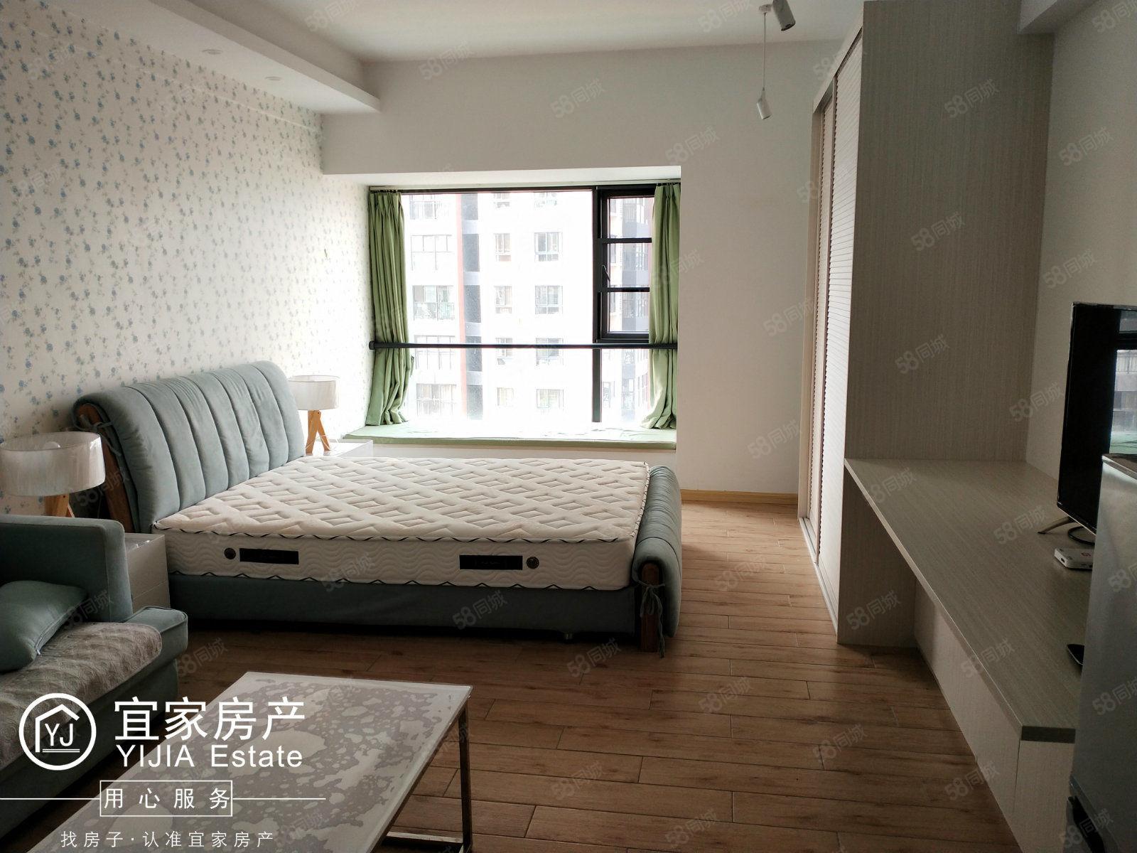 时代广场三期、单身公寓精装修、带着全套家具家电、含水电网物费