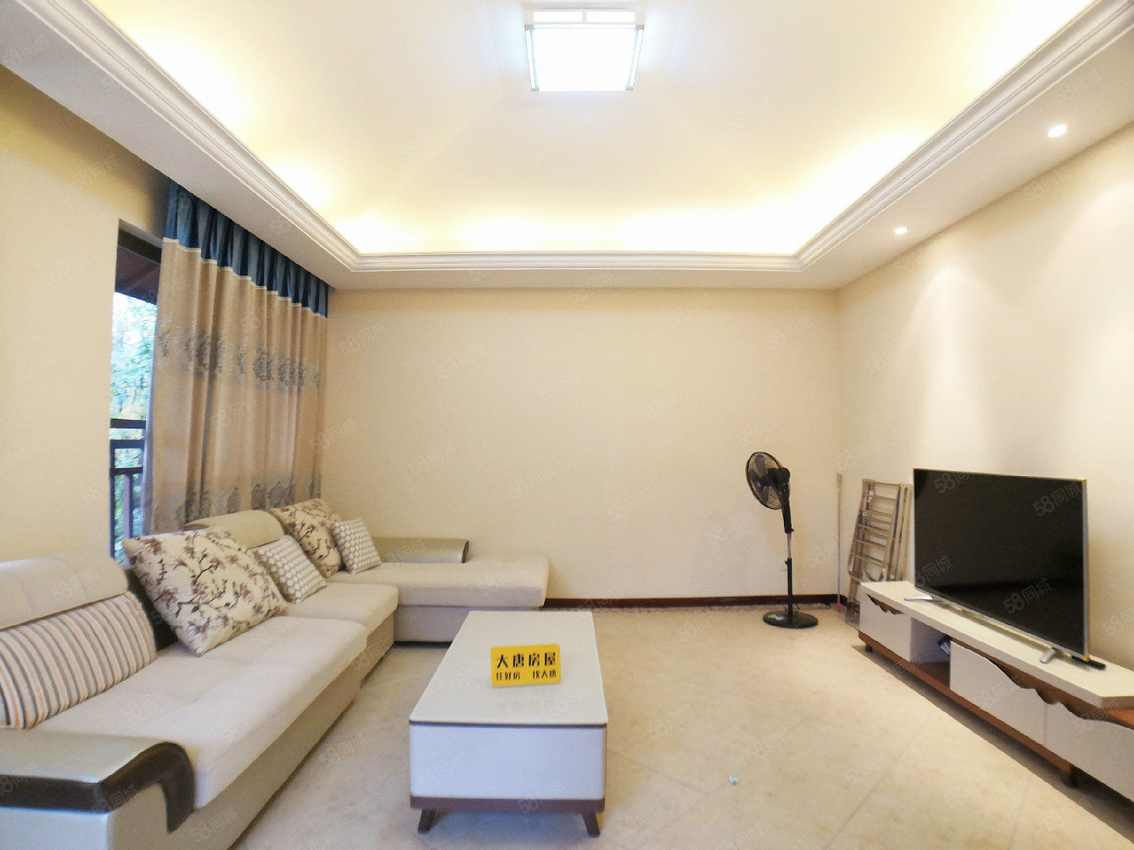 龙湖小院青城产权63平实得98平,精装家电家具全带,122W