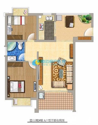 澄迈周边福山镇蓝山湖小区2室1厅1卫76平米