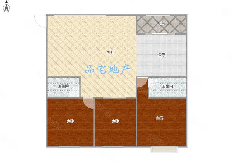 新城区颐景园三房出租租金1083,钥匙在手,随时看房