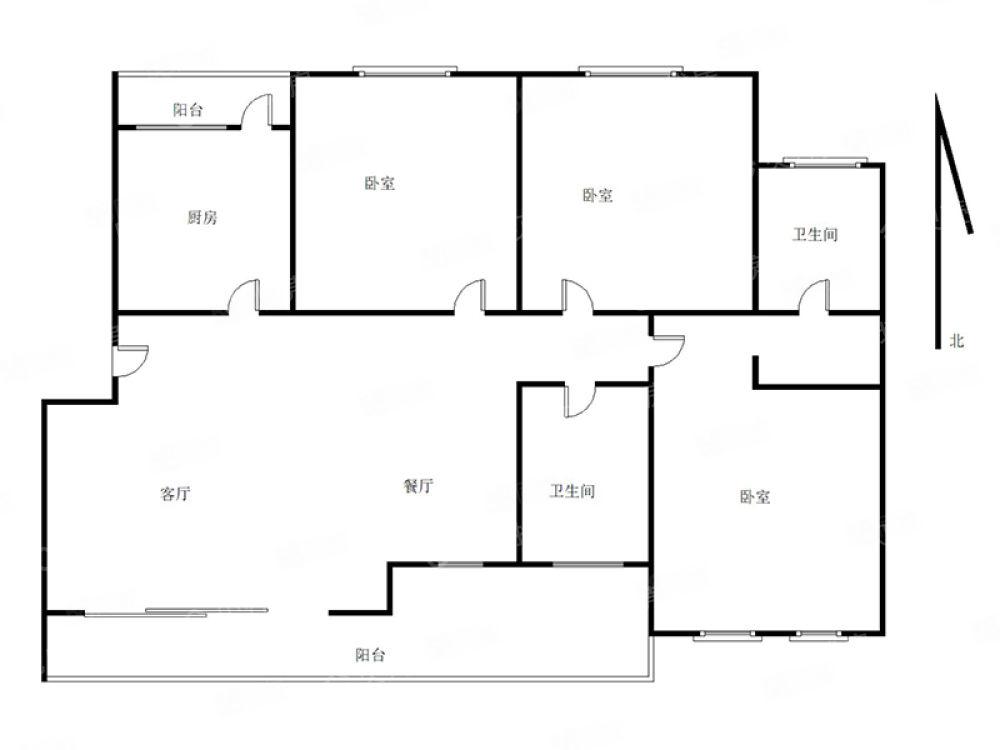 朋鹰紫城对面卡斯迪亚多层二楼精装修带超大阳台只要70万手慢无