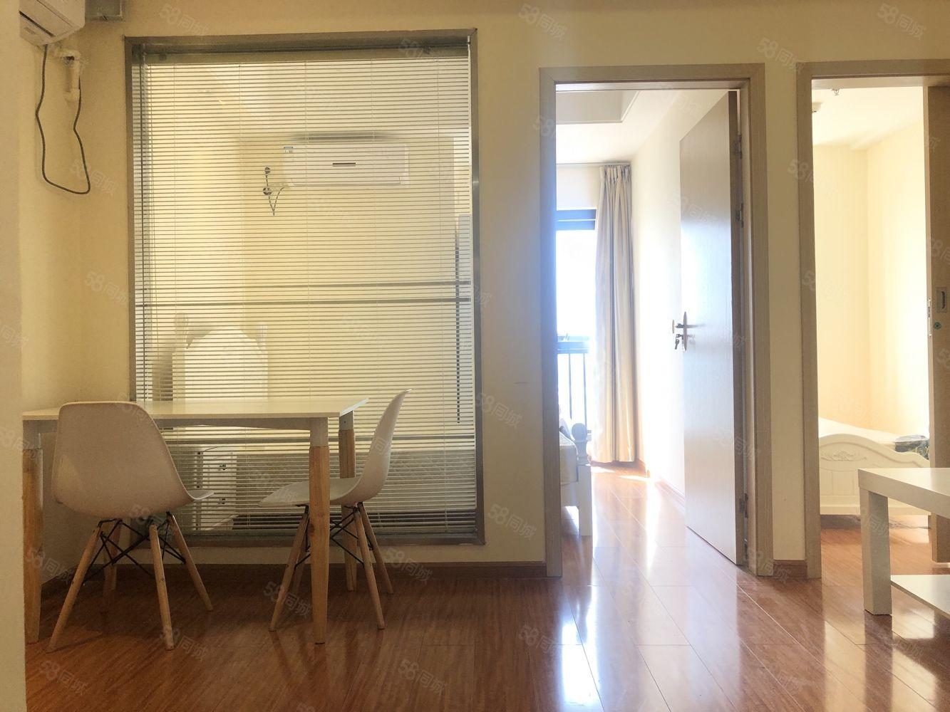 上虞萬達精裝小兩室可做一室客廳帶儲藏室家具家電齊全拎包入住