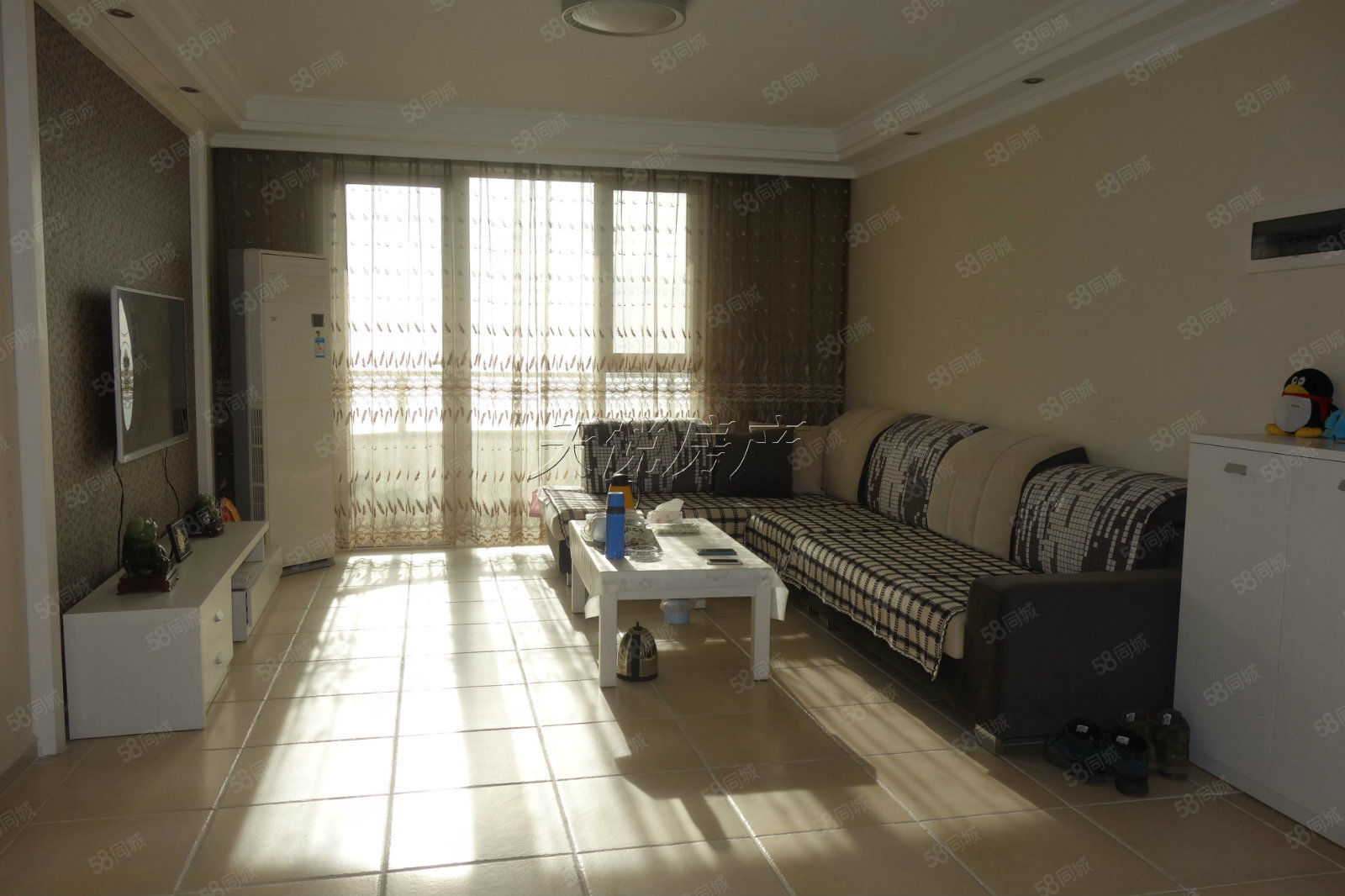 山海同灣板樓三居室,南北通透戶型,三室兩廳兩衛,另有白金海