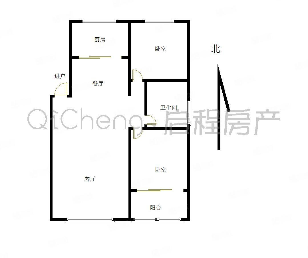 城东怡欣园2层96毛坯2居室送地上车库跟柴房55万
