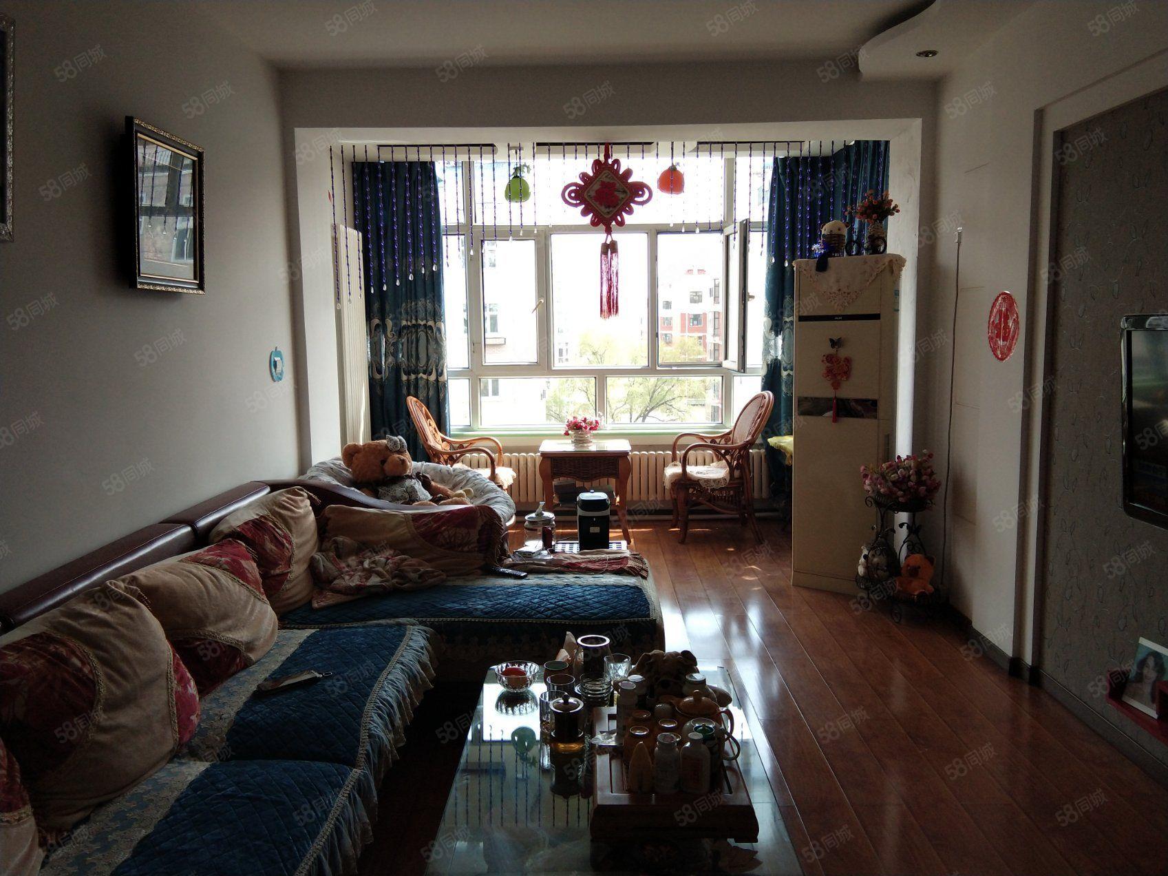龍興家園正五樓南北通透南明廳婚裝房,93米,53萬