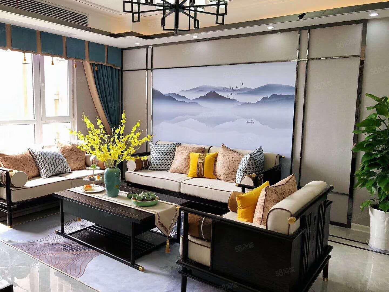 富华国际复式楼景观房新中式风格