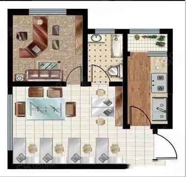 中达广场无中介纯一室一厅公寓双气进入高档公寓