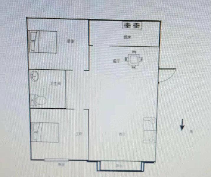 福临门嘉苑两室两厅一卫毛坯买五楼送六楼可包改合同29万