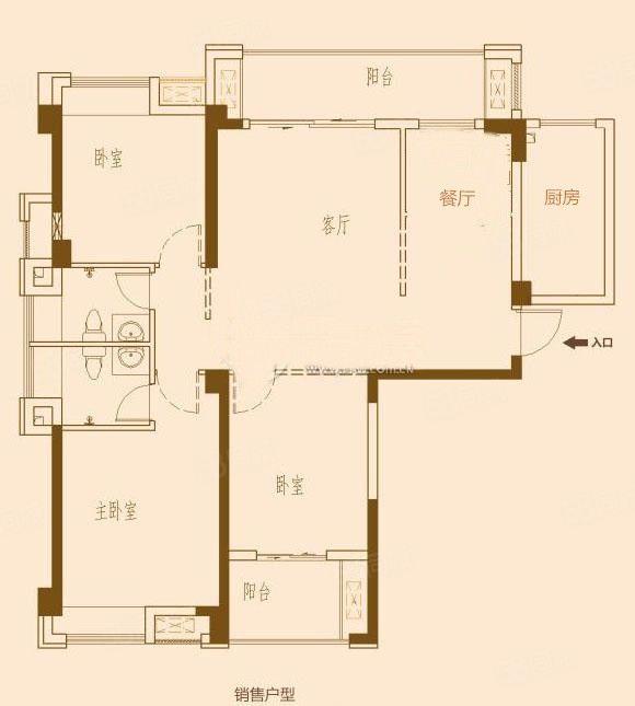 产权118平赠送20平,3.5房,三面采光。户型方正
